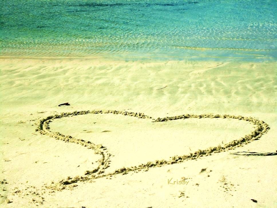 Un cuore sulla sabbia