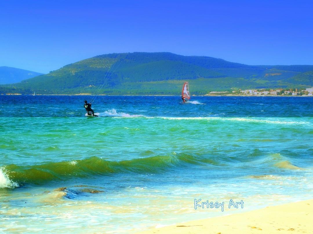 Sulla scia del vento ad Alghero Lido - Sardegna - Krissy ph